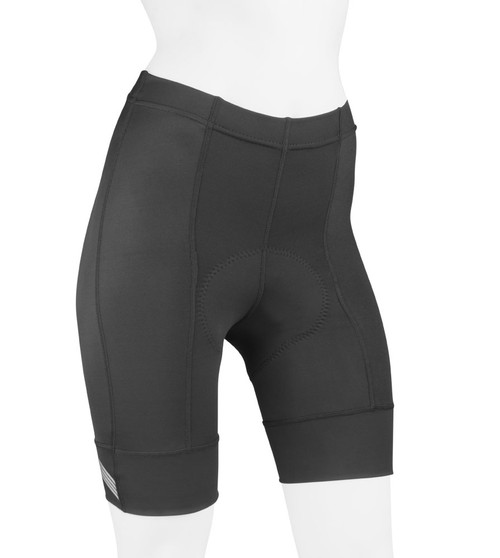 Aero Tech Women's Destination PADDED Bike Shorts - Elastic Free Leg Cuffs