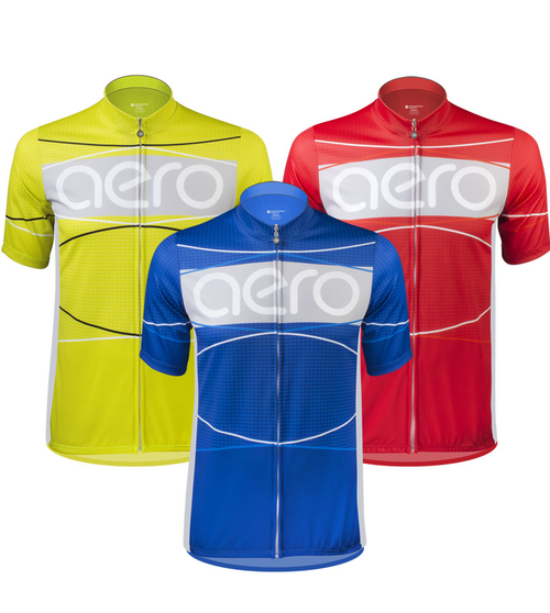 TALL Men's Aero Detour Sprint Jersey in Red, Blue or Yellow
