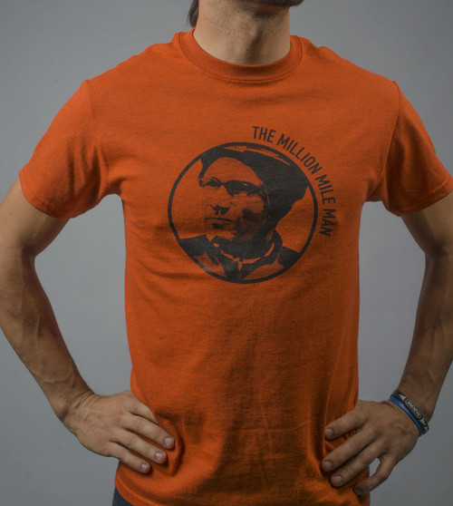 Aero Tech Adventure Cotton T-Shirt - Danny Chew's Million Mile Men's T-Shirt - Orange Heather Cotton Tee