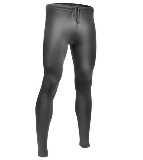 Tall Men's Spandex Unpadded Workout Compression Tights Black Front