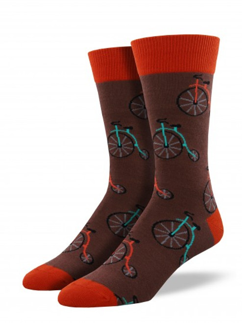 Socksmith Men's Penny Farthing Bicycle Socks