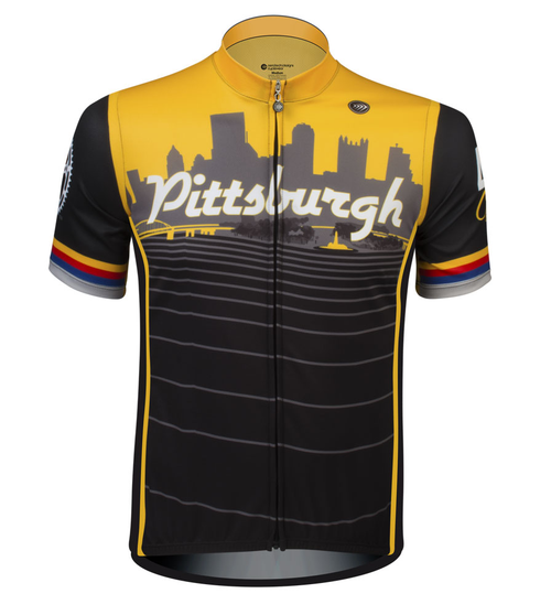 Pittsburgh Theme Sprint Bike Jersey Full Front