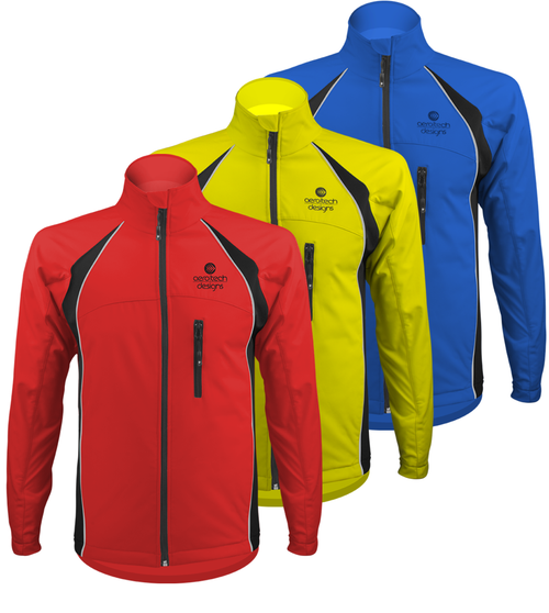 Aero Tech Men's Softshell Cycling Jacket - Windproof, Thermal, WaterProof Lining
