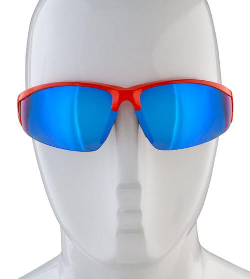 Aero Tech Triumph Blue and Orange Mirrored Sunglasses
