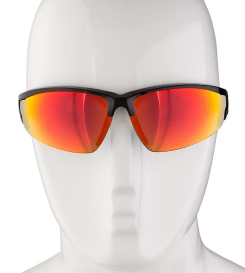 Aero Tech Triumph Ruby Mirror Wrap Cycling Sunglasses