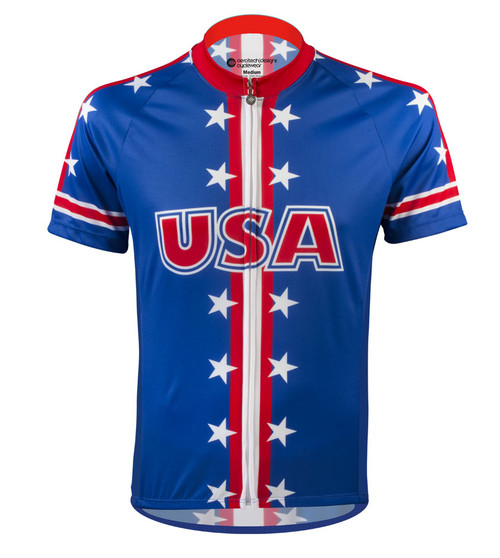 Aero Tech Men's Peloton Jersey - USA Theme Jersey - USA Cycling Jersey