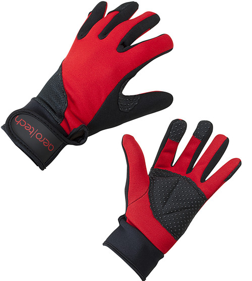 Aero Tech Windproof Cycling and Running Glove - RED