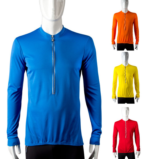 Extra Long Tall man's bike jersey with long sleeves