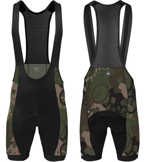Aero Tech Men's Peloton Woodlands Camo Bib Shorts Icon