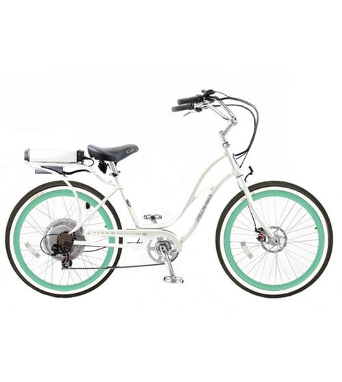 Pedego White Pedego Electric Bicycle Step-Thru Mint Rims