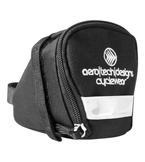 Aero Tech Bicycle Seat Pack with Reflective Trim