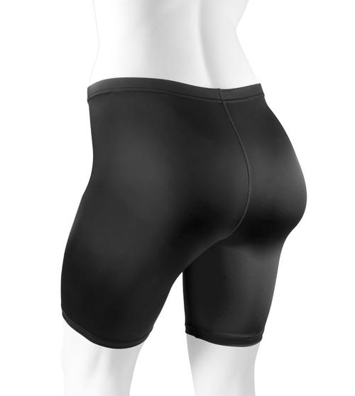 Plus Size Women's Classic Unpadded Compression Workout Short Black Back