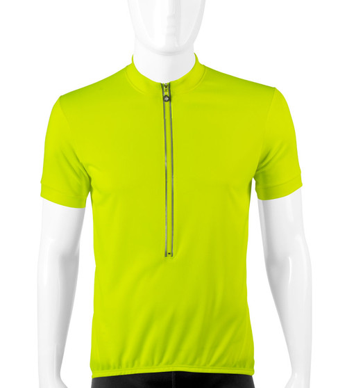 Aero Tech Cycling Jersey in High Visibility Safety Yellow  Made in USA