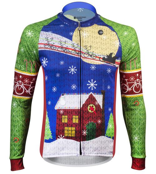 Aero Tech Peloton Long Sleeve Jersey - 2016 HolidayJersey - Brushed Fleece