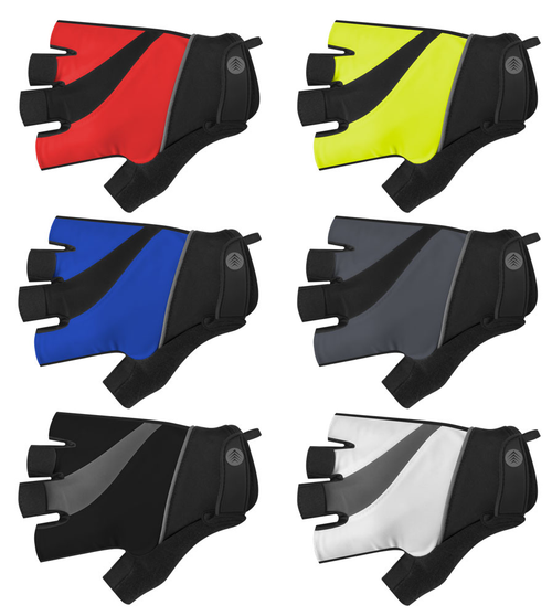 Tempo Fingerless Cycling Gloves available in six colors