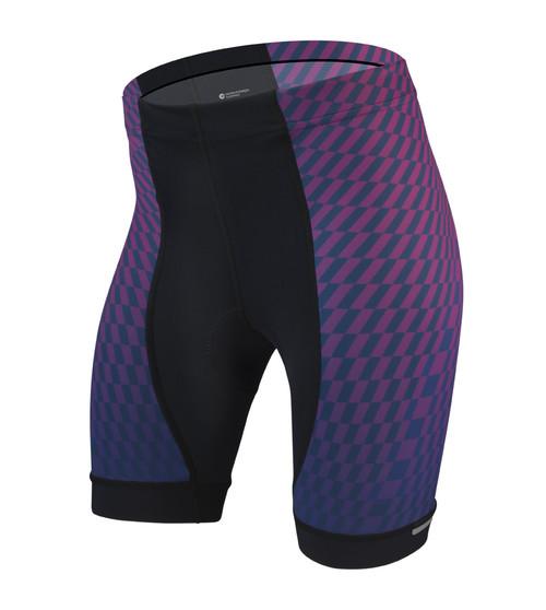 Aero Tech Women's Empress Shorts - Power Tread - Pink - PADDED Bike Shorts - Made in USA
