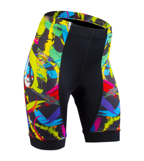 Women's Empress Shorts Print Bike Shorts Wild and Colorful Hide a Rider Design Front