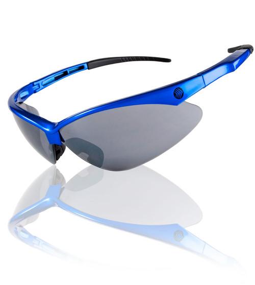 Aero Tech Classic Wrap Sunglasses Gray Smoke w Flash Mirror