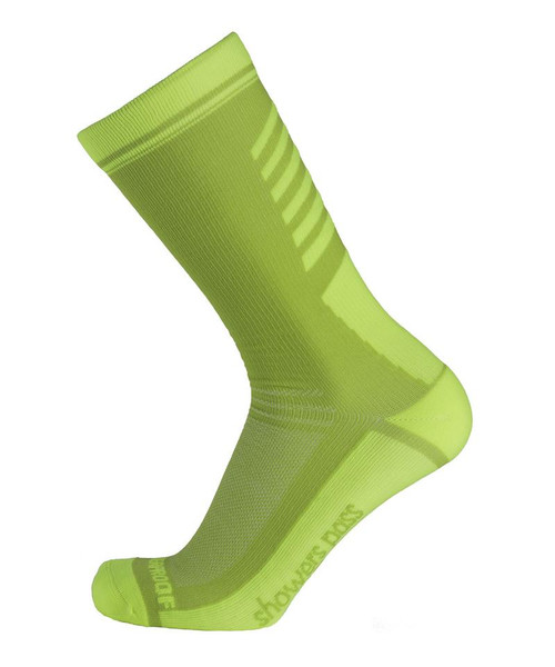 Showers Pass Lightweight Waterproof Crosspoint Neon Green Socks