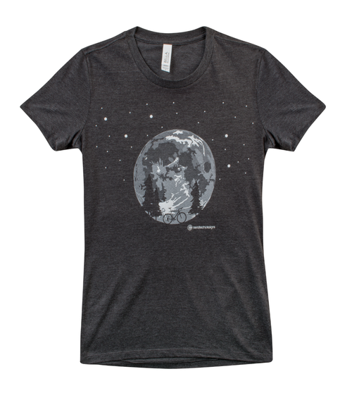 Women's Moon Bike Adventure T-Shirt Front