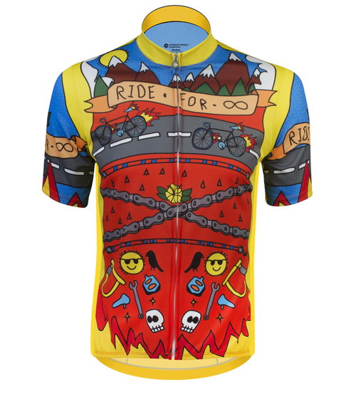 Aero Tech BIG Men's Printed Ride for Infinity Sprint Cycling Jersey Front View