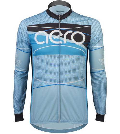 Aero Tech Tall Men's Long Sleeve Brushed Fleece Ice Detour Sprint Jersey Front View