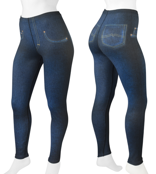 Women's Full Print Compression Jeggings Icon Panel