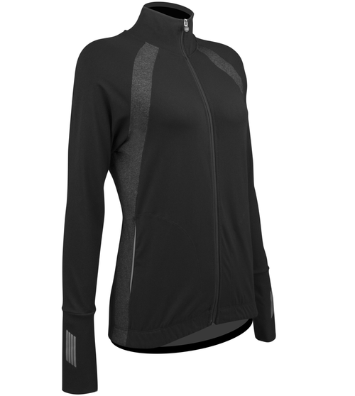 Women's FIT Long Sleeve Fitness Jacket with Reflective Off Front