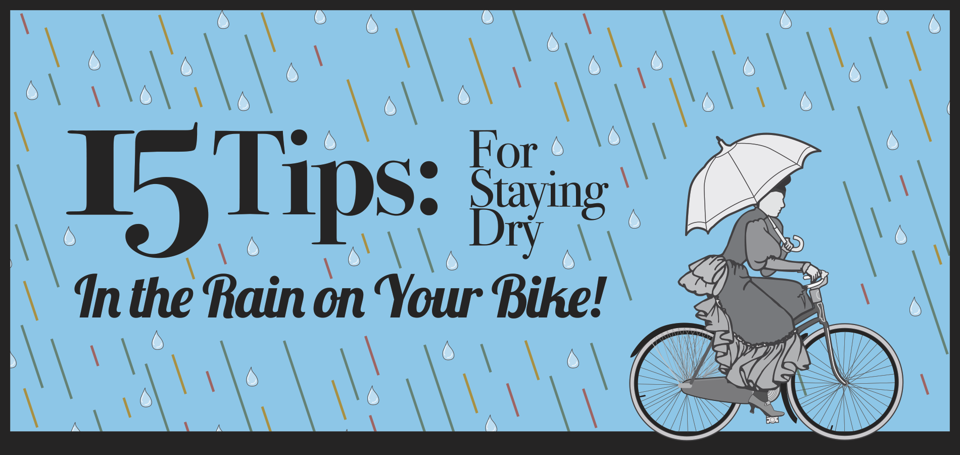 15 tips for cycling in the rain