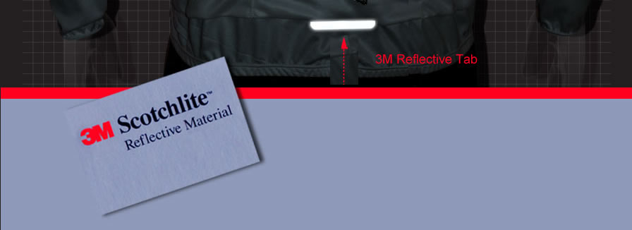 3M Reflective Tab for visibility