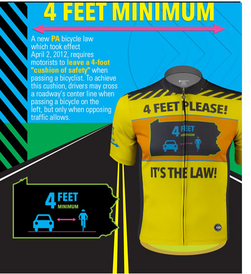 Pennsylvania bicycle 4 feet passing law