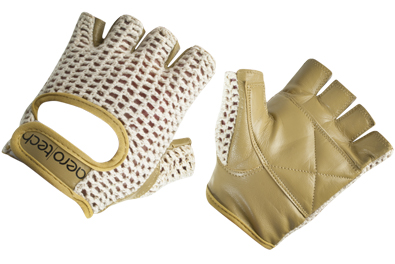 Leather Crotchet Cycling Gloves