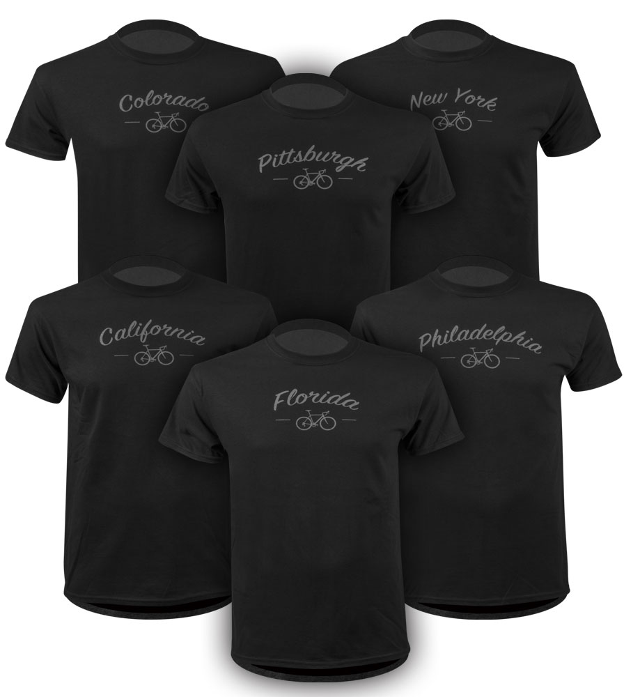 Cycling Destination Shirts Collect Them All