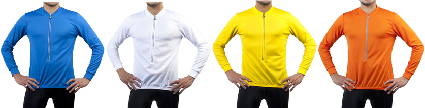 Long Sleeve Solid Color Jersey Color Options
