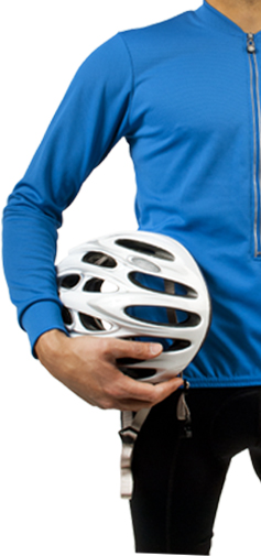 long sleeve blue biking top
