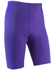 purple men's bike shorts