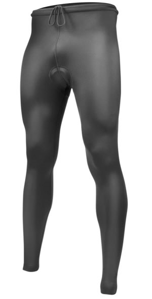 Men's Black Spandex Cycling Tights Front View