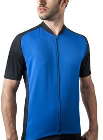 blue cycling jersey