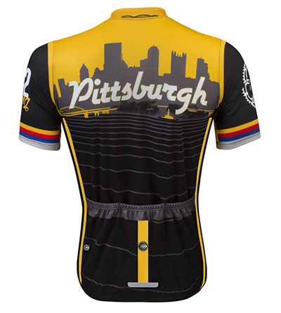 Pittsburgh Cycling Jersey Back View