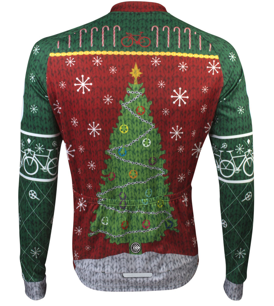 Ugly Christmas Sweater Cycling Jersey - Holiday Celebration for bicycle  Riders ba1901c70