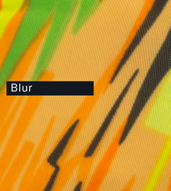 Wild Print - Blur is flourescent