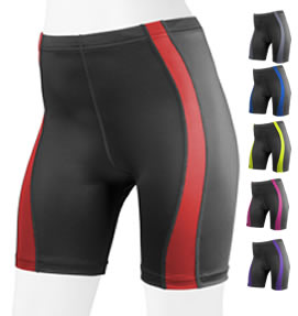 aero tech matching red bike shorts