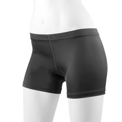 black spankie bike short