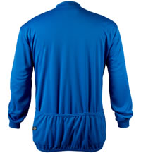 Big Man's Royal Blue Long Sleeve Cycling Jersey Back