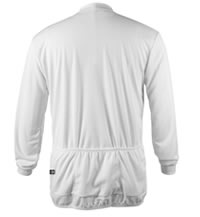 Big Man's White Long Sleeve Cycling Jersey Back