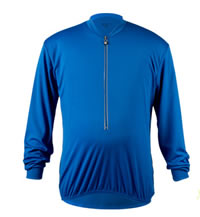 Big Man's Royal Blue Long Sleeve Cycling Jersey Front