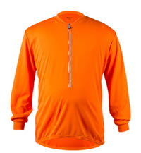 Big Man's Orange Long Sleeve Cycling Jersey Front