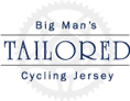 big man's tailored cycling jersey