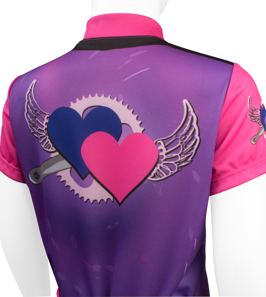 Flying Hearts Youth Jersey Top Back