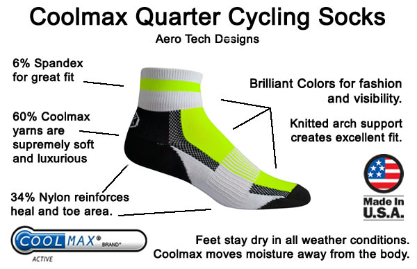 Aero Tech coolmax quarter sock